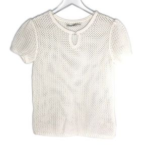 Tommy Hilfiger Open Knit Short Sleeve Blouse M